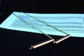 Wichelroedes Messing en Koper 29 cm lang en 8 cm hoog handvat
