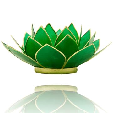 Lotus hart chakra met goudrand