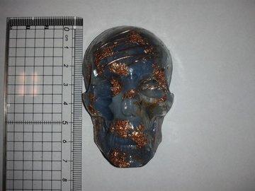 Orgoniet schedel Aquamarijn
