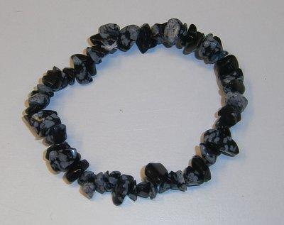 Armband Sneeuwvlok Obsidiaan