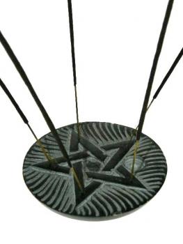 Wierookhouder Pentagram zeepsteen