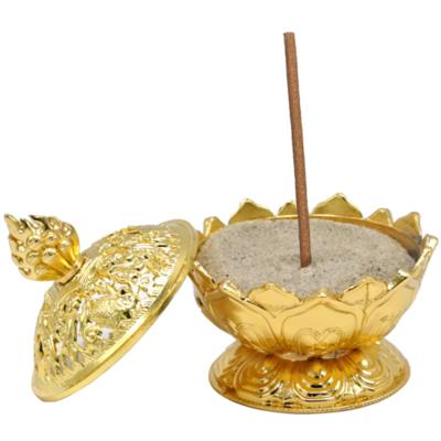Wierookhouder Lotus goudkleurig