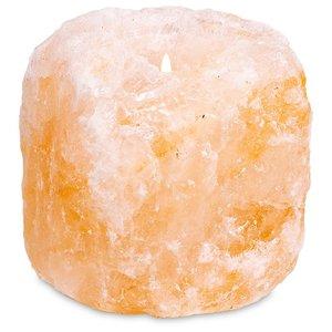 Theelichthouder Himalaya zoutkristal